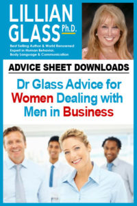 Dr Glass Advice for Women Dealing with  Men in Business
