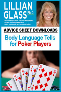 advice sheetBody-Language Tells for Poker Players